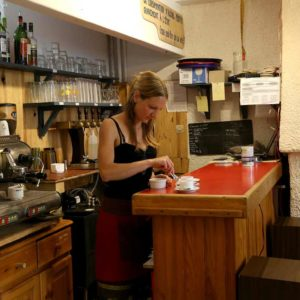Service au bar (avant rénovation)