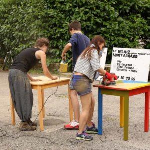 Rénovation des tables de terrasse