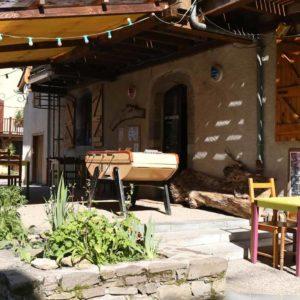 La terrasse du Relais Montagnard